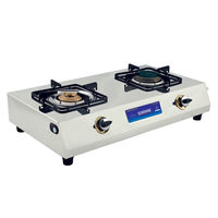 Sunshine Ceramic Double Burner Stainless Steel Gas Stove, lpg, manual