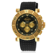 Lee Cooper Lc-090710 Black/Golden Chronograph Watch