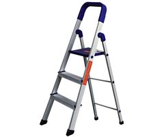CiplaPlast Folding Aluminium Ladder - Home Pro 3 Steps