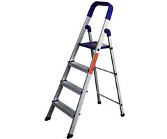 CiplaPlast Folding Aluminium Ladder - Home Pro 4 Steps