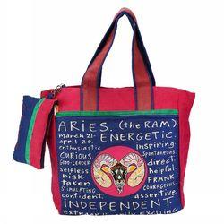 The Jute Shop Pink n Blue Bag