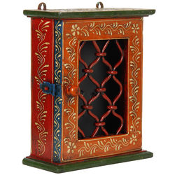 VarEesha Rajasthani Key Box, 900 g, multicolored, 8x3x9