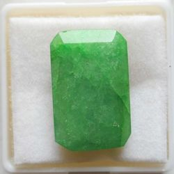 RUDRA GEMS Emerald Gemstone, octagon faceted, 18.45 11.61 6.30mm, 10.30cts 11.44ratti