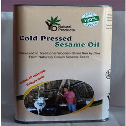 YB NATURALS COLD PRESSED SESAME OIL, 1 litre