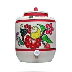 MittiCool EARTHEN WATER POT (WITH PAINTING), 20 liters, 3