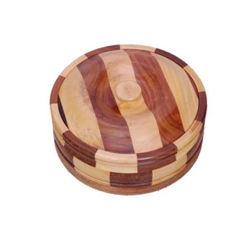 Batra's Wooden Stylish Capati Box, brownish, 400 gms, 9 8 6