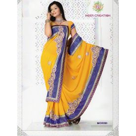 Exclusive Velvet border Sarees - S002SB28LKSK