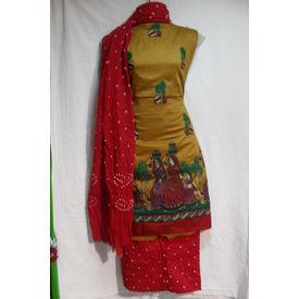 Sartin Bandhej Suit- 1259SM17MOHK