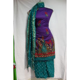 Sartin Bandhej Suit- 1258SM16MOHK