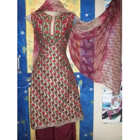 Mamta - 1124MT14WHSK - Kora Silk Suit