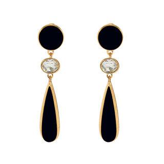 Black And White Long Fashion Earrings Dangler For Women