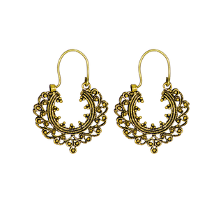 Ethnic Gold Tone Oxidised Baali Earrings For Women