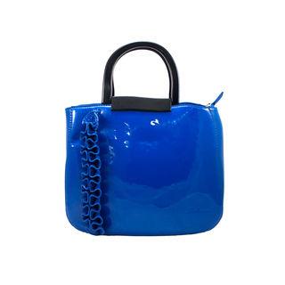 Designer Handbag And Sling Bag In Blue For Women