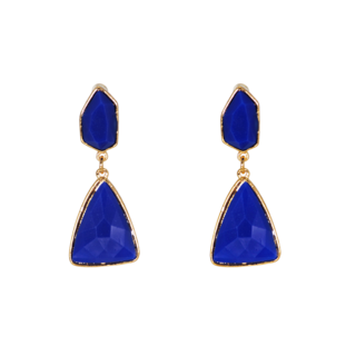 Astonishing Fashion Earrings In Blue And Golden