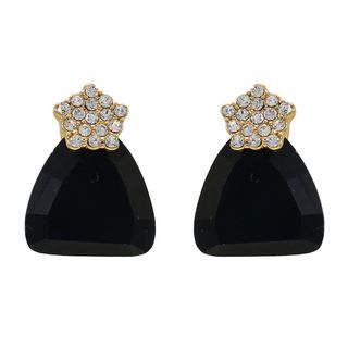 White Flower With Heavy Black Stone Studs