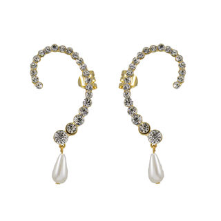 Beautiful Ear Cuff With Dangling Pearl
