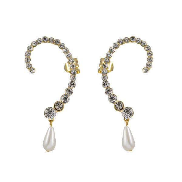 Beautiful Ear Cuff With Dangling Pearl