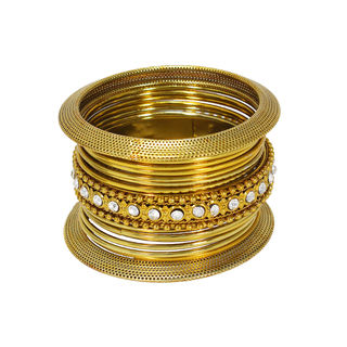 Elegantly Designed Attractive Gold Tone Bangles Sets, 2-6