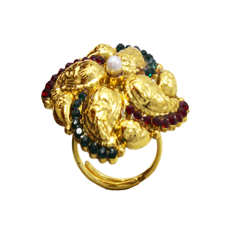 Gold Plated Polki Rings For Women
