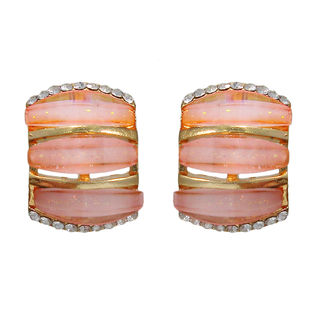 Pair Of Embellished Pink Studs For Women