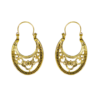 Long Ethnic Oxidized Baali Earrings For Women