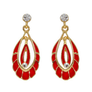 Red And Golden Fashion Alloy Danglers
