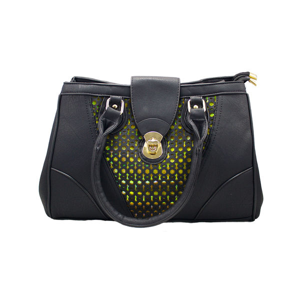 Designer Black Handbag Cum Sling Bag For Women