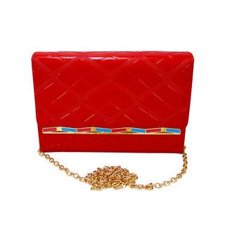 Beautiful Red Long Sling Clutch Purse For Women