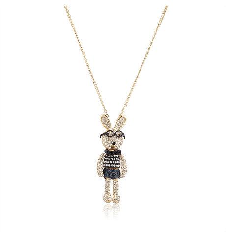 Shaze Blue Teddy E14709 Necklace