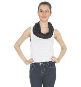 Scarves & Glitters Knit Infinity Scarf,  black