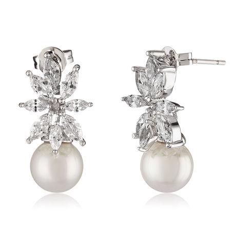 Shaze Silver 5787 Pearl Earing
