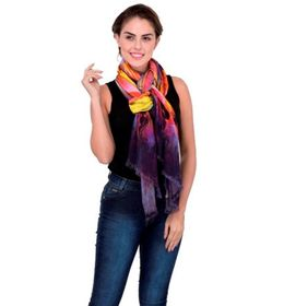 Scarves & Glitters Digital Print Stole, multi color