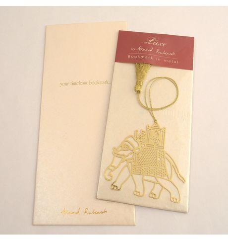 Anand Prakash Elephant With Carriage Bookmark