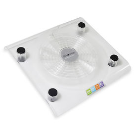 Clublaptop CLCP828 Transparent Cooling Pad (White)