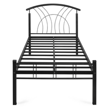 Nilakmal Lucas Single Bed without Storage,  black