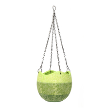 Hanging Wave 12cm Edge Planter - @home by Nilkamal, Bright Green