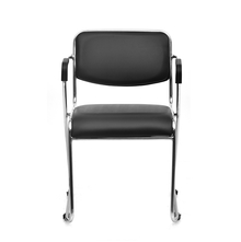 Contract 01 Soft PVC With Arm Chair - @home By Nilkamal,  black
