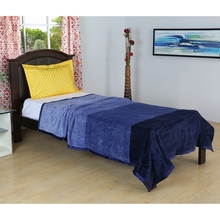 Bands 150 cm cm x 225 cm Single Blanket -@home by Nilkamal, Indigo