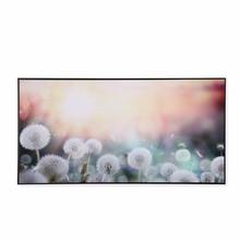 Sunlight on Flower 30 cm x 60 cm Painting - @home by Nilkamal, Sea Green