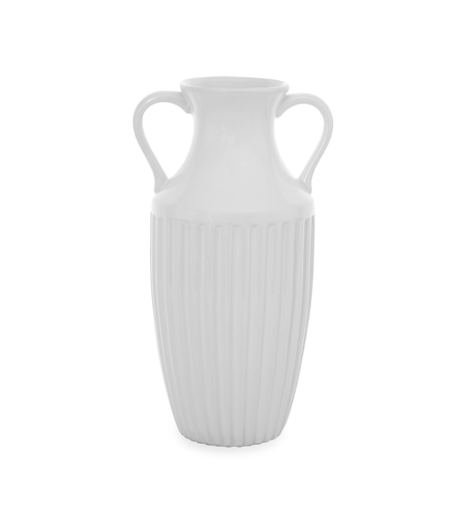 Snow 17 cm x 32 cm Vase - @home by Nilkamal, White