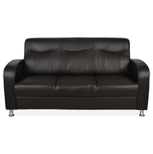 Nilkamal Louisiana 3 Seater Sofa, Dark Brown