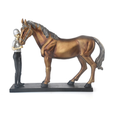 Jockey & Horse Showpiece - @home By Nilkamal, Brown
