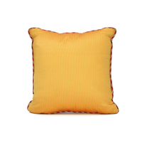 Waffle Reversible 30 x 30 cm Filled Cushion, Red & Yellow