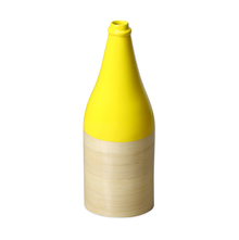 Spun Bamboo Small Bottle Vase - @home by Nilkamal, Yellow