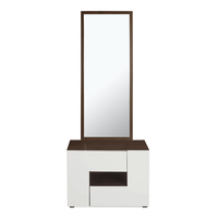 Guardian Dresser with Mirror - @home by Nilkamal, Walnut and White