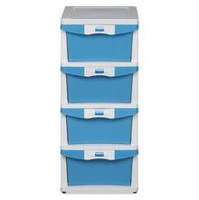 Nilkamal Chester Storage Drawer Series -24, Cream Transparent Blue
