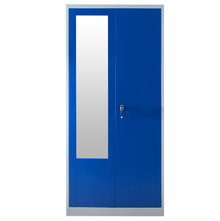 Nilkamal Stephen 2 Door Wardrobe With Locker Grey & Blue