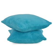 Honeycomb 2 Pieces Cushion Cover - @home by Nilkamal, Teal
