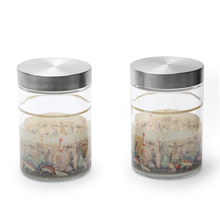 Olio Round Glass Jar 1250 ml with Metal Lid Set of 2 - @home by Nilkamal