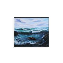 Waves 3D 35X41CM Painting, Blue